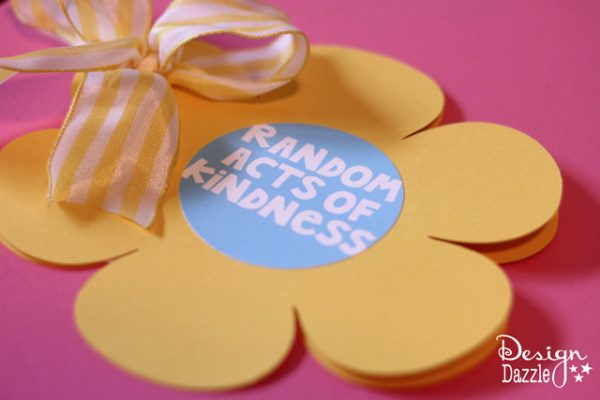 Random Acts Of Kindness Easy Flower Card Design Dazzle