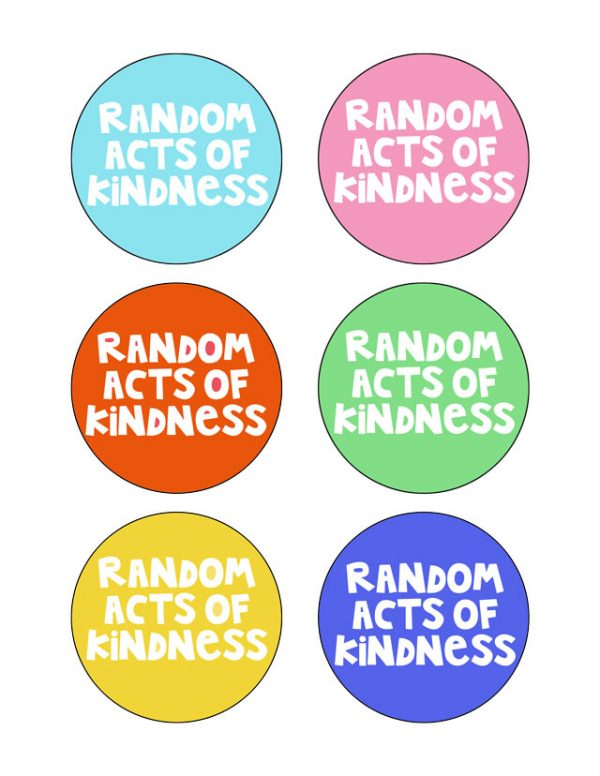 Random Acts of Kindness: FREE PRINTABLE! Spread the love by writing a sweet sentiment to someone you know. Always more kindness to go around!