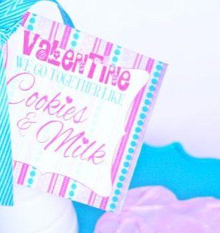 Cookies and Milk Valentine Printable