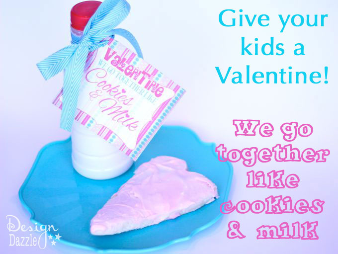 Sweet Cookies and Milk Valentine Printable is perfect for the big LOVE Day! {FREE PRINTABLE}