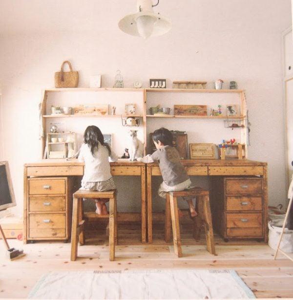vintage kids desk