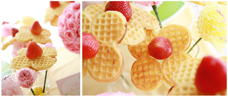 waffle flower girls party