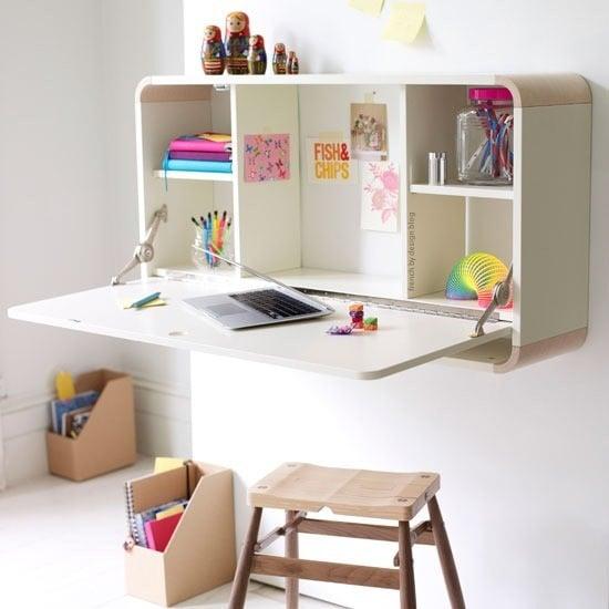 Superbe Modern Wall Desk And Storage
