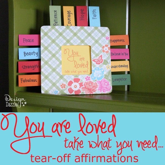 Random Acts of Kindness: You are loved - take what you need... tear-off affirmations