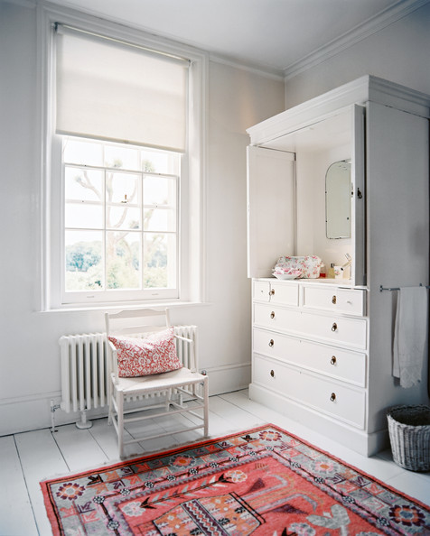 Turn an armoire into a darling changing station! Love this idea for a baby nursery!