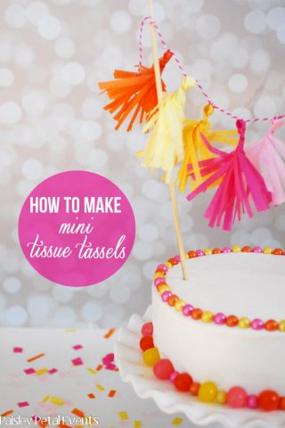 Decorate a Birthday Cake with Mini Tissue Tassels