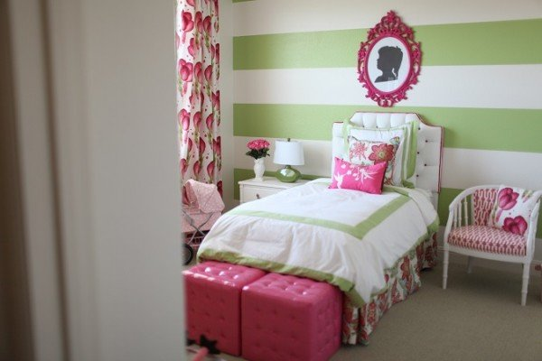 green pink bedroom pink and green room design dazzle 11738