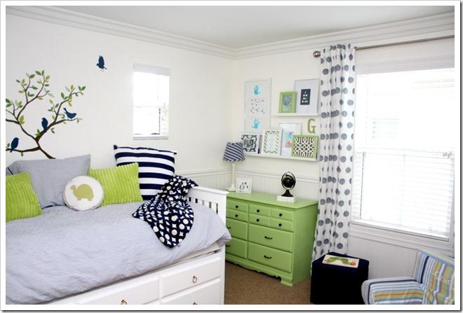 Blue Green Boys Room