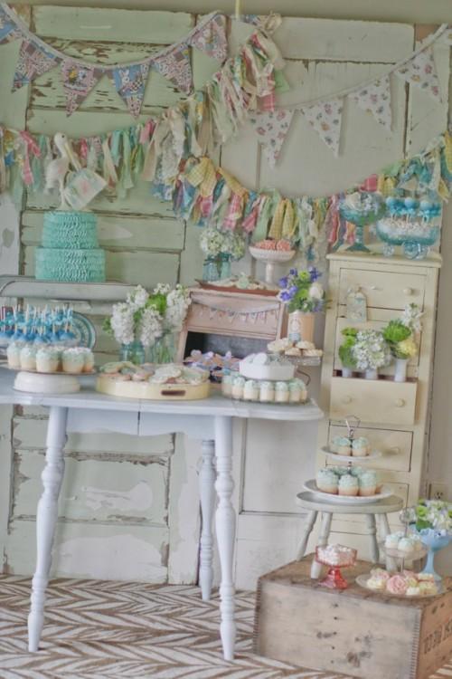 Baby Shower Vintage Cake