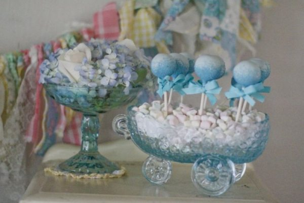 Vintage Glass Baby Carriage