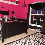 Pink and Black Zebra Teen Girls Bedroom