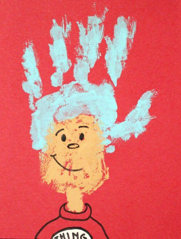 Thing 1 handprint