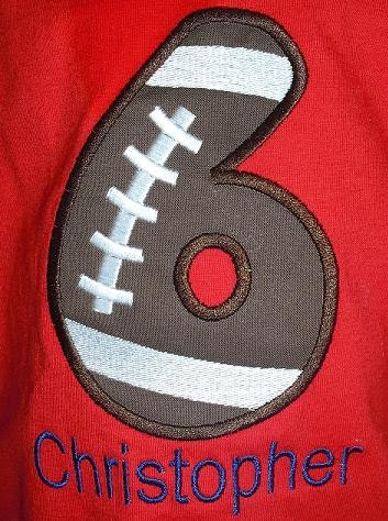 bday shirt football