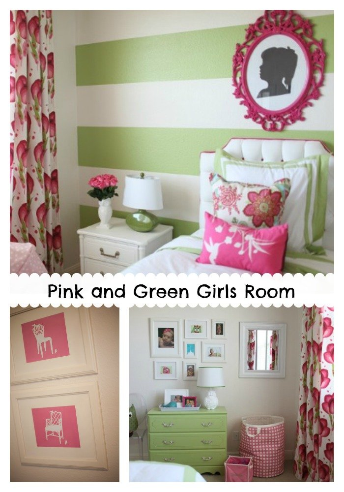 Pink and Green Girls Room - Design Dazzle
