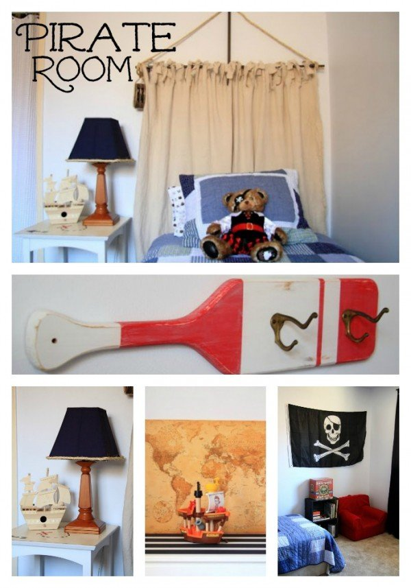 Yo Ho A Pirate's Room for me! Kristin from Simply Klassic Home  put together an amazing Pirate Room on a budget of $150! We love it!