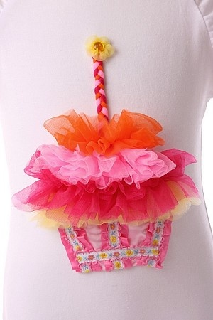 frilly cupcake birthday shirt