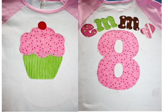 girls birthday baseball tee