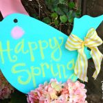 Couch Crafting & Cre8time Challenge: Happy Spring Chalkboard