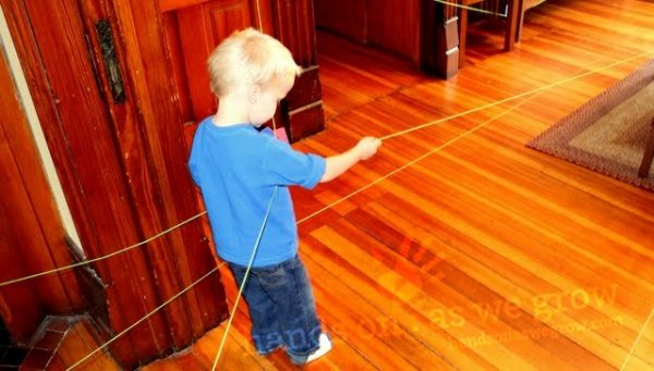 indoor string scavenger hunt