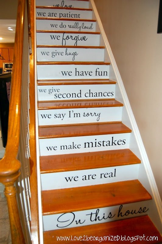 Lettered stairs