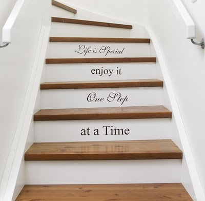 Lettered staircase