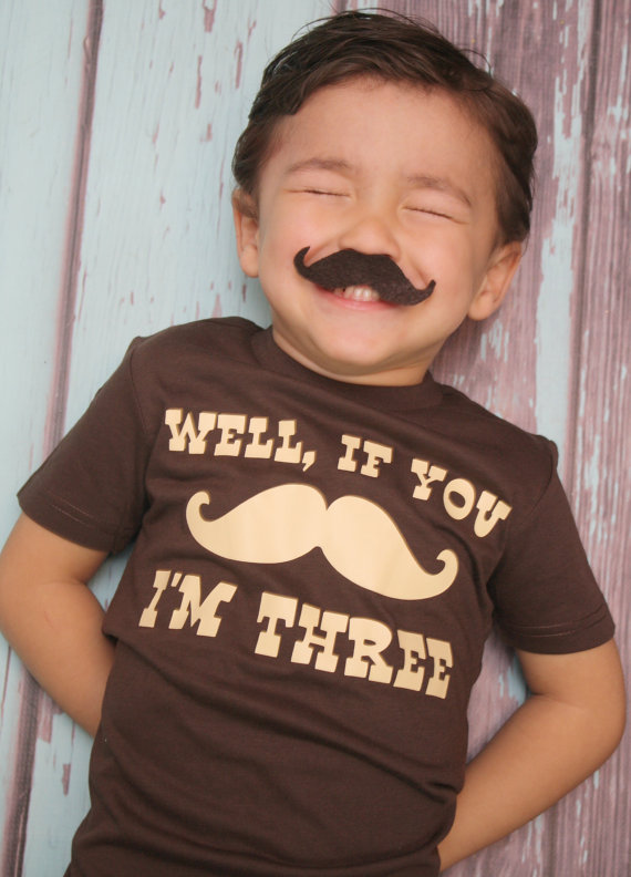 mustache birthday shirt