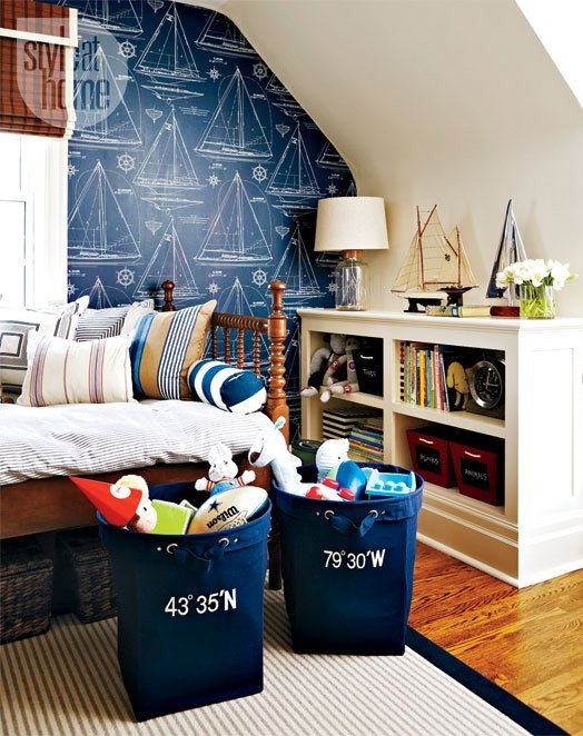 Nautical boys nursery room design dazzle for Boys nautical bedroom ideas