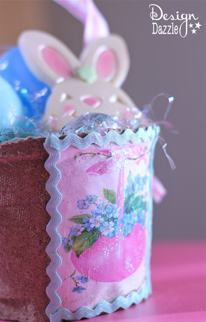 Peat Planter Easter Baskets Pink and Blue