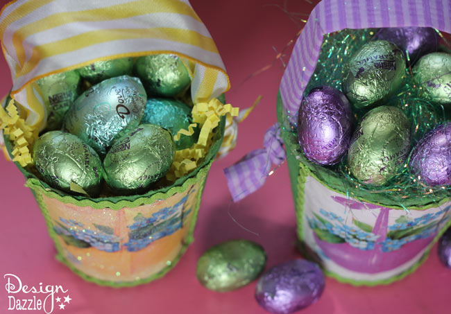 Peat Planter Easter Baskets Chocolate