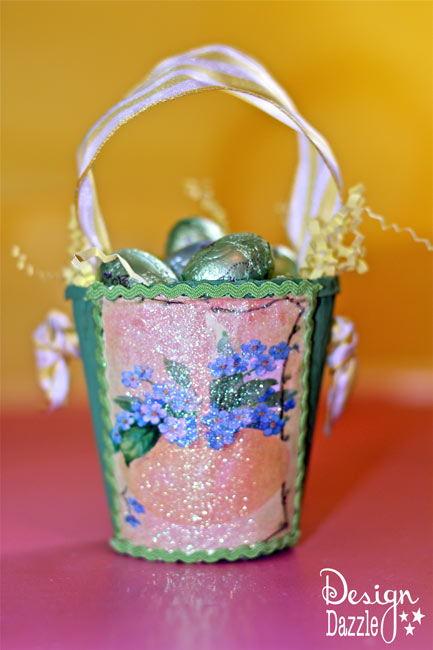 Peat Planter Easter Baskets Paper Shred