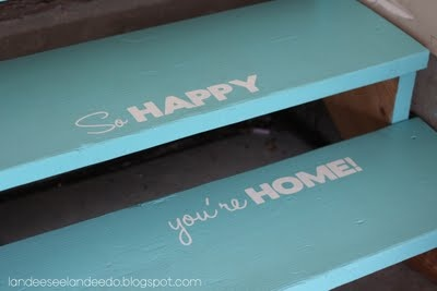 happy you're home staircase