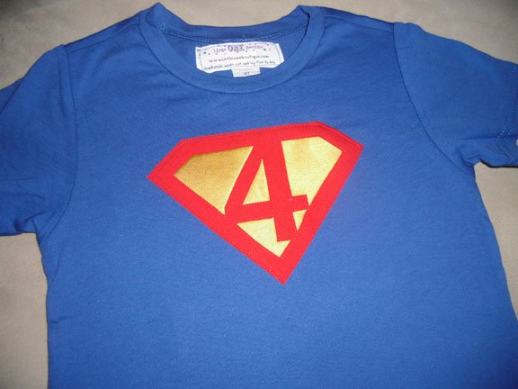 superman birthday shirt