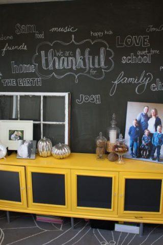 Thankful Chalkboard Wall
