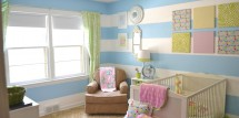 bright baby girl nursery