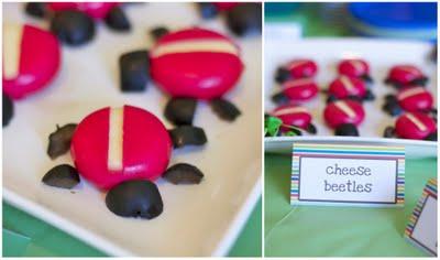 bug birthday cheese beetles