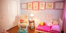 Bohemian Pink and Blue Girl Bedroom-1