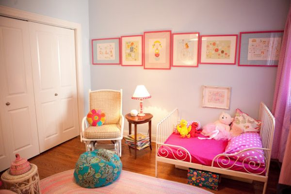 Pink and Blue Girls Toddler Room - Design Dazzle