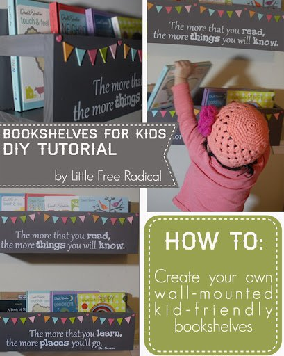DIY kids room shelving Dr. Seuss inspired