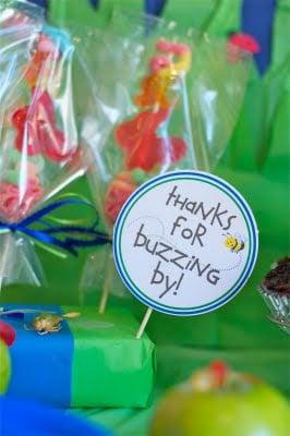 bug birthday party favor