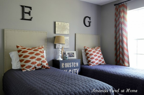 Orange And Gray Boys Room Design Dazzle