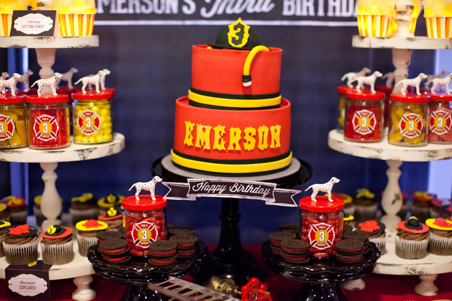 classic fire house party cake