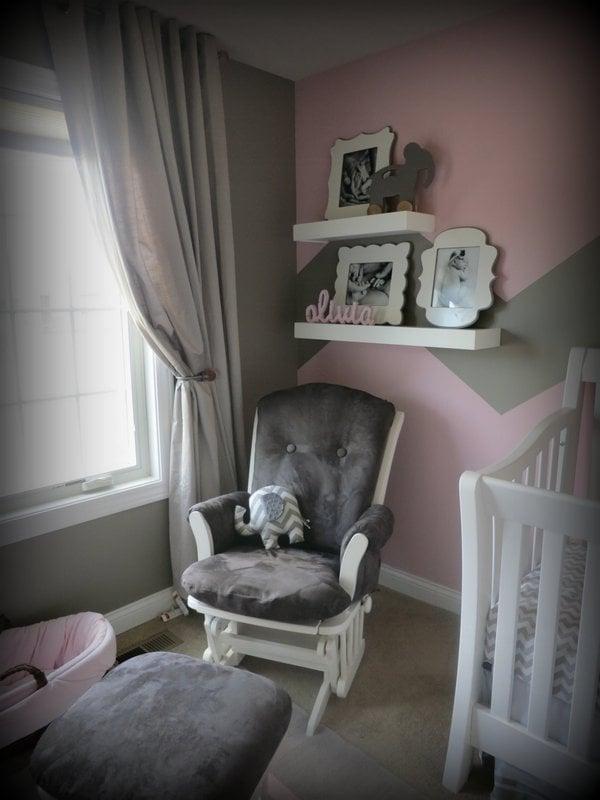 Pink And Grey Girls Nursery Design Dazzle
