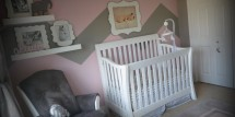 pink and grey girl nursery