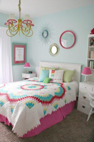 Colorful Teen Girls Bedroom