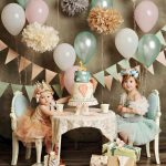Mint and Peach Girls Party
