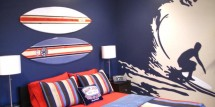 surfer teen theme room ideas