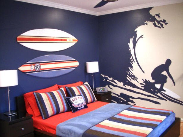 Charming Teen Boys Surf Room Ideas