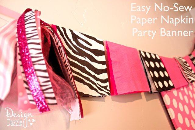 No Sew Paper Napkin Party Banner