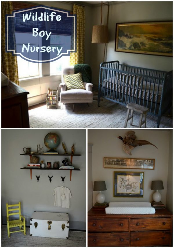 Wildlife Boy Nursery that is full of outdoor adventure! This nursery feels like a lodge, but sweet as your little newborn! love.