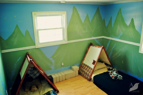 Create a camping room for your kids